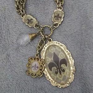 Fleur de Lis vintage necklace